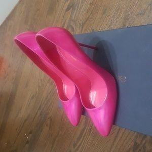 Sergio Rossi pink patent heels